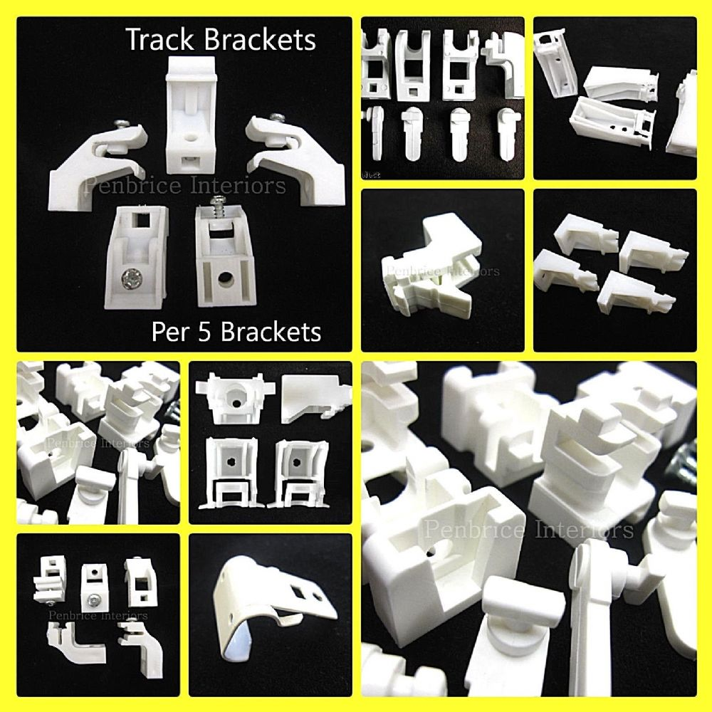 Curtain Track Brackets - SOLD PER 5 - Rail Support Fixing ...
